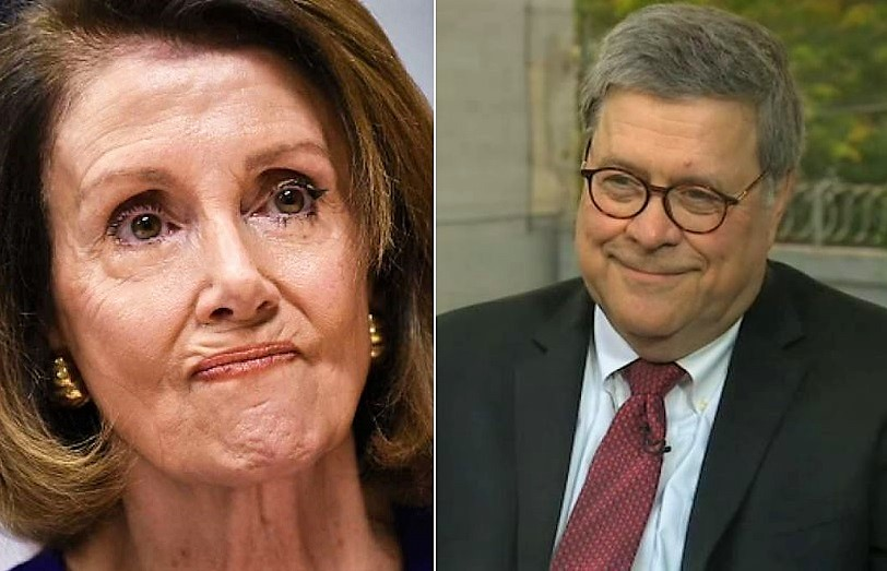 AG Barr Shuts Down Pelosi - Ends Her Reign Of Terror With DOJ's ...