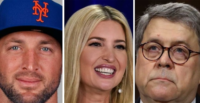 """AG Barr Recruits Ivanka And Tebow To Fight Against """"Modern Day Slavery"""" Human Trafficking, Grants Big Dollars To Save Kids Lives"""
