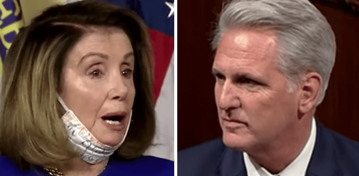 GOP Leader McCarthy Threatens Motion To Remove Pelosi As House Speaker If She Impeachment As Stalling Tactic