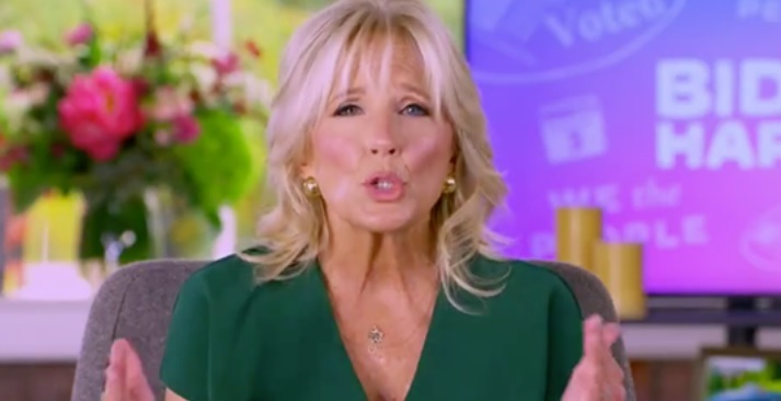 """Jill Biden Claims """"It Is Totally Irresponsible People Are Going To"""" Trump """"Rallies & They Are Not Wearing Masks"""""""