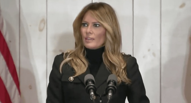 "Melania ""While The Left Choose To Focus Only On The Negative, We've Chosen To Focus On The American People & The Future"""